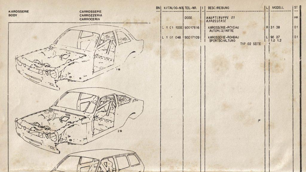 Teile-Katalog (Microfiche)